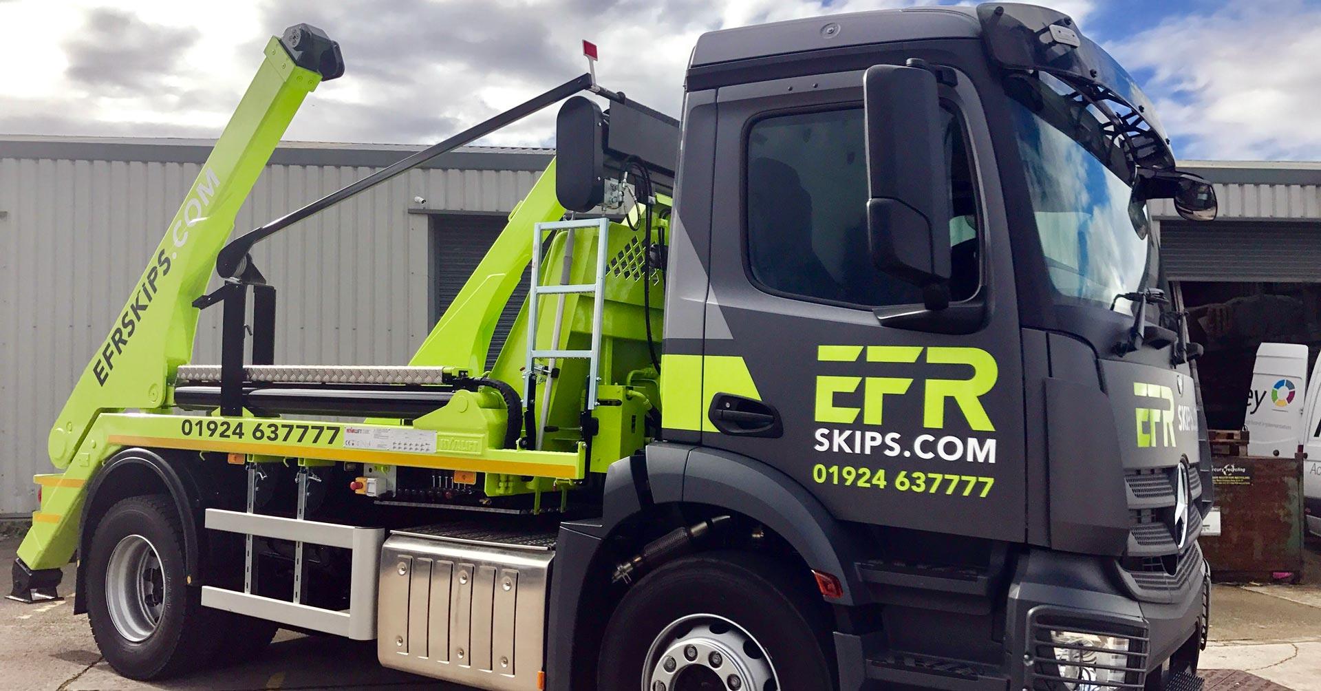 EFR Skip Hire Wakefield Truck